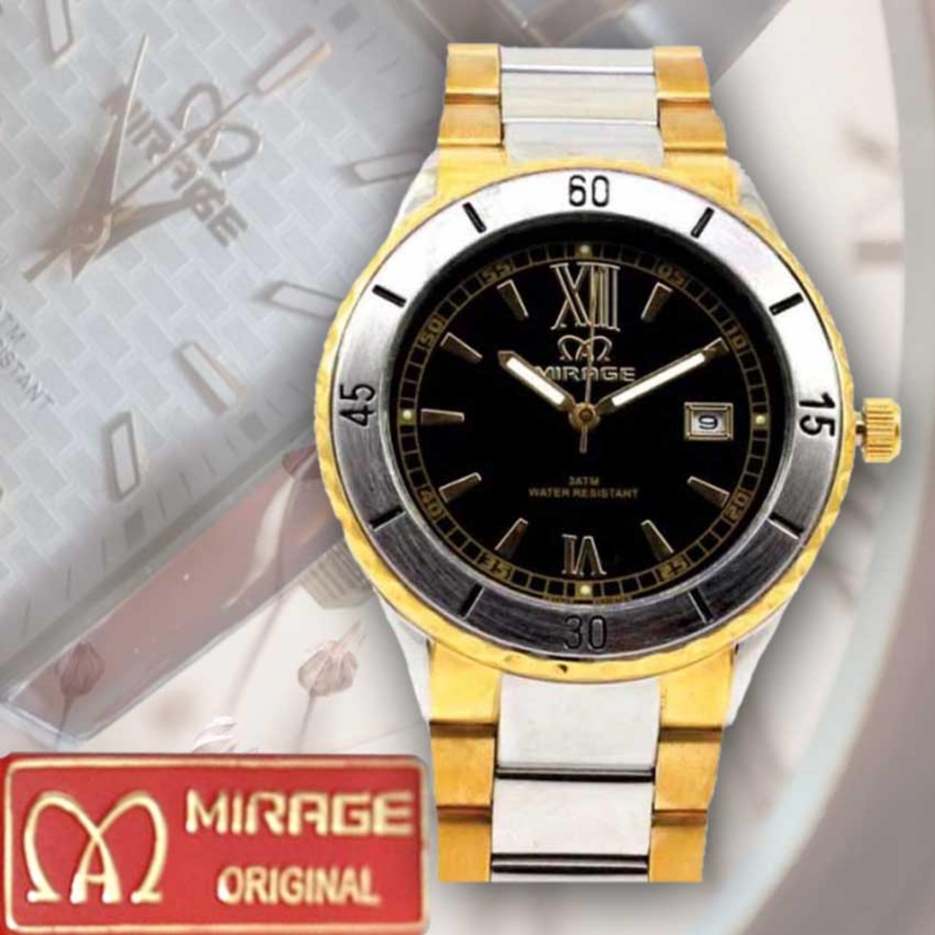 Jam Tangan Pria Original Mrg 7411 Brp M Hra Mirage Original Arloji Japan Technology 8187 Brp