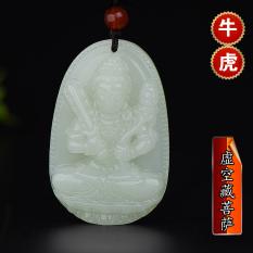 Muxiyuan natal Buddha liontin pria dan wanita Buddha dan nephrite giok