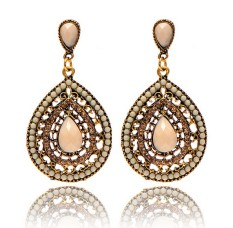 Berlian Imitasi Kristal Mutiara Perhiasan Anting Giwang Telinga Pesta Pernikahan. Natal hadiah .