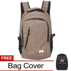 Navy Club Tas Ransel Laptop Kasual - Tas Pria Tas Wanita Tas Laptop Trendy EIBA Backpack Up to 14 inch Daypaack - Coffee