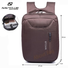 Navy Club Tas Ransel Laptop Tahan Air 5883 Backpack Up to 15 inch - Coffee