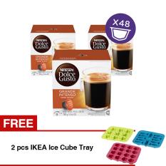 NESCAFÉ Dolce Gusto Kapsul - Grande Intenso - 3 Box + Free 2 pcs IKEA Ice Cube Tray