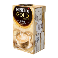 Nescafe Gold White Coffee - 24gr - Isi 10