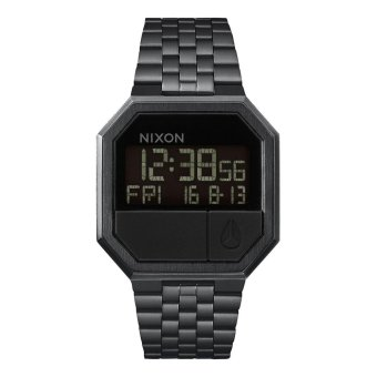 NIXON A158001 Re-Run - Jam Tangan Pria - Stainless - Black