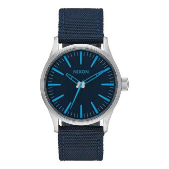 Nixon Watch Sentry 38 Blue Stainless-Steel Case Nylon Strap Mens NWT + Warranty A4262219