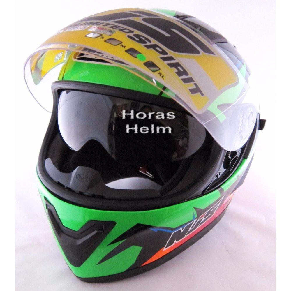Harga Termurah Njs Shadow Full Face Hijau Stabilo Helmet Penawaran Bagus Snail Helm Mx309 Motocross Motif Skull Hitam Kilap