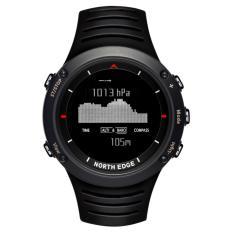 NORTH EDGE ALTAY Kompas Barometer Altimeter Suhu Tahan Air Renang Digital Olahraga Watch Black-Intl