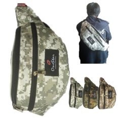One star waist bag Army - Silver Army
