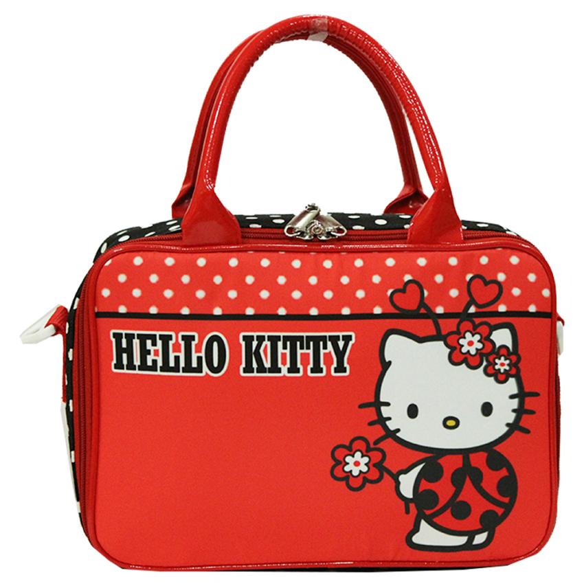 Onlan Travel Bag Karakter Hello Kitty Bahan Kanvas Halus Merah Source Onlan Set .