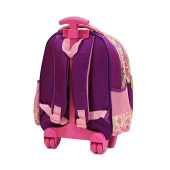 Detail Gambar Onlan Tas Trolley Anak Sekolah TK Import Karakter Cantik 5D Timbul Hologram - Purple