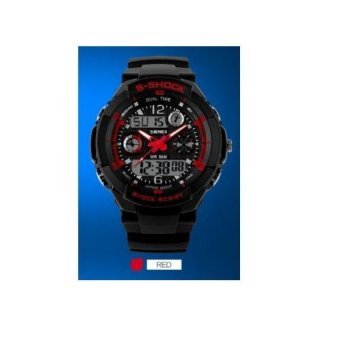 Original Shock SKMEI Outdoor Sports Watch Waterproof Shockproof  MenElectronic Watches Jam Tangan0931 Red - intl f9d7441241