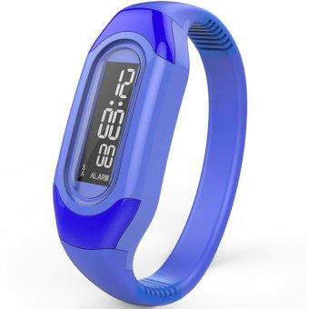 Ormano - Jam tangan Unisex - Strap Karet - Biru - LED Gelang Alarm Date Watch