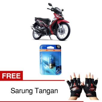 harga Osram Lampu Depan Motor Honda Supra X 125 Fi 62337CB 35/35 12V P15D-25-1 Cool Blue - Gratis Sarung Tangan Lazada.co.id