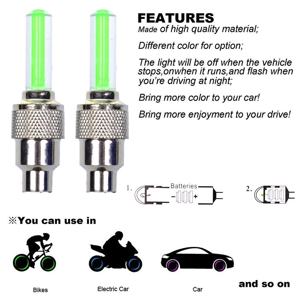 Periksa Peringkat Otomobil 2pcs Lampu Tutup Pentil Ban Motor Mobil Led Isi Tox Jh010 Universal