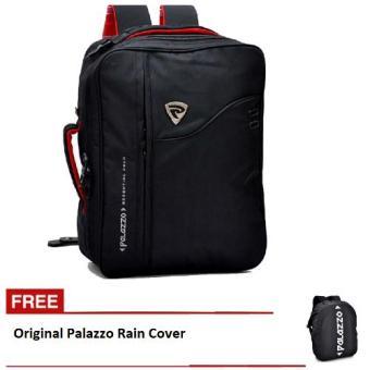 Palazzo Tas Ransel 3in1 Backpack ( Ransel, Softcase, dan Slempang ) 34685 + Free
