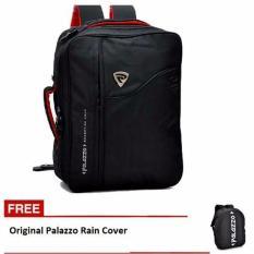 Palazzo Tas Ransel 3in1 (Ransel, Slempang, Jinjing) 34685 + free Rain Cover - Hitam