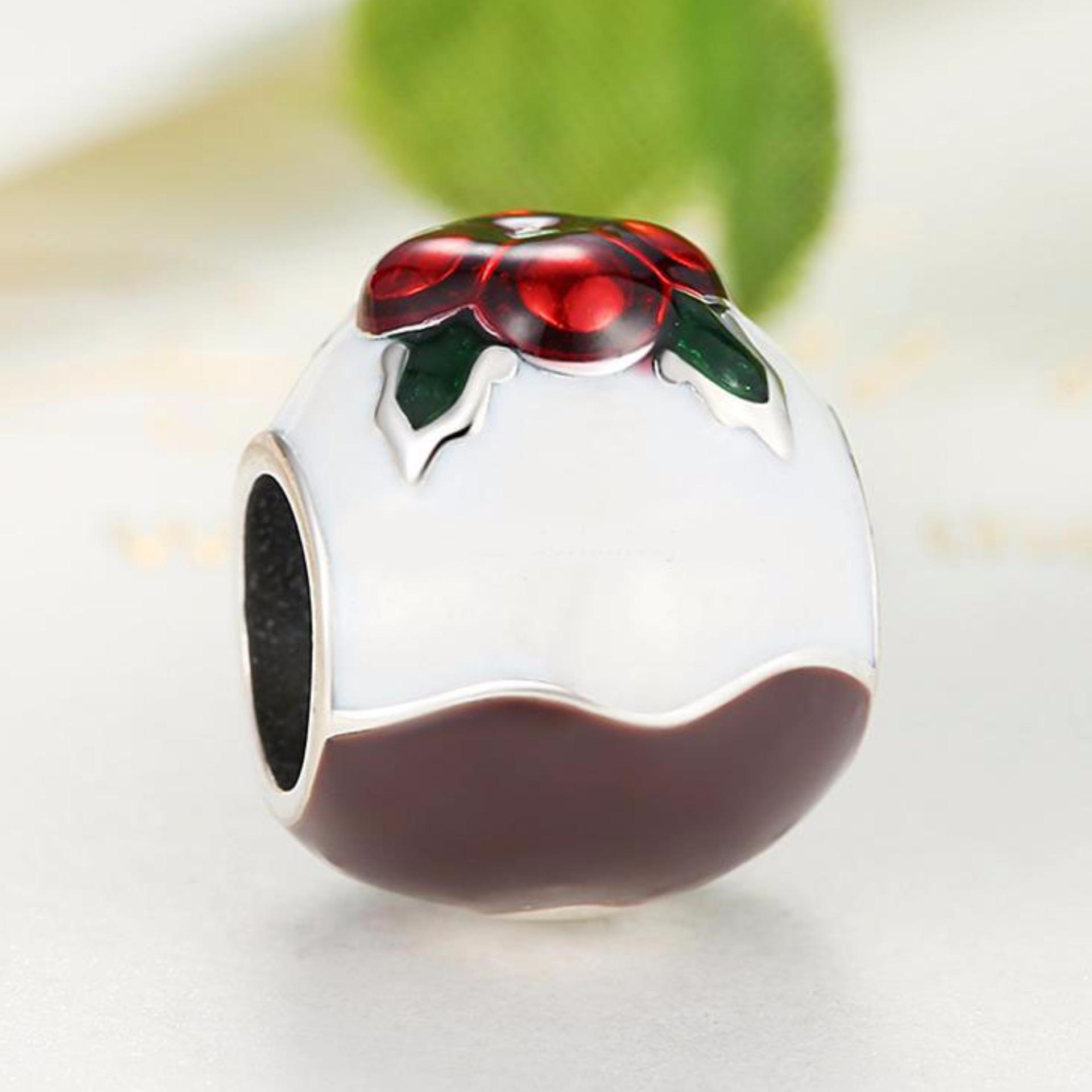 Cantik Perhiasan Gelang Manik Manik Kaca Bundar Giftware Elastis Source · Pandora Christmas Pudding Silver Charm Pandora Christmas Pudding Silver Charm