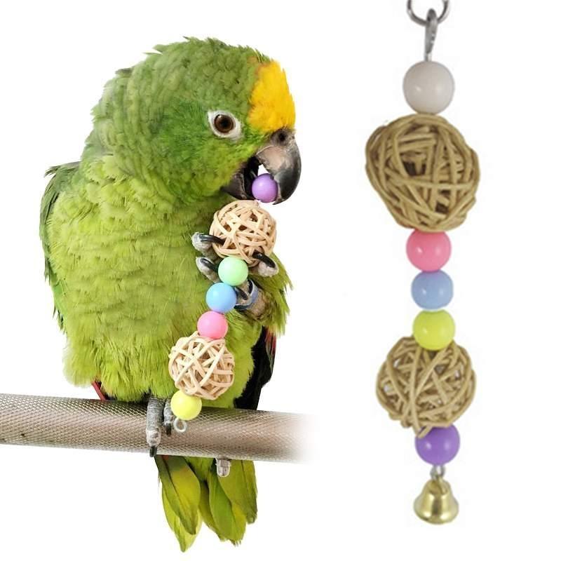 Parrot Chewy Cubes Pet Bird Budgie Cockatiel Swing Toys Bite ClimbChew toy - intl
