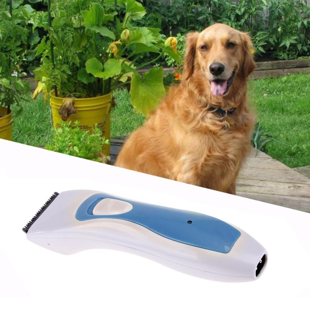Pet Clipper Grooming Supplies Dog/Cat Shaver Hair Trimmer ShavingMachine(Blue) - intl