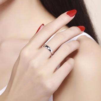 Pinannie asli putih berlapis emas 925 perak cincin wanita dan pria - 4
