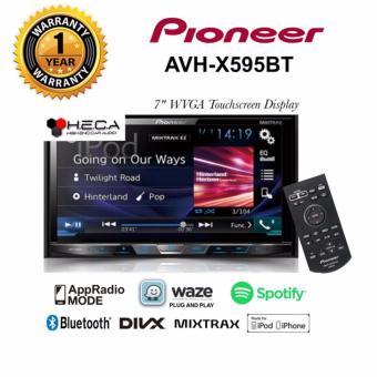 Pioneer AVH-X595BT Head Unit Double Din Tape Audio Mobil Bluetooth [HITAM]