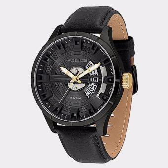 POLICE PL.14678JSB/02 - Jam Tangan Pria - Bahan Tali Leather - Hitam