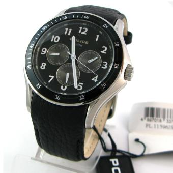 Police Watch Striker Black Stainless-Steel Case Leather Strap Mens NWT + Warranty PL11596JS-02
