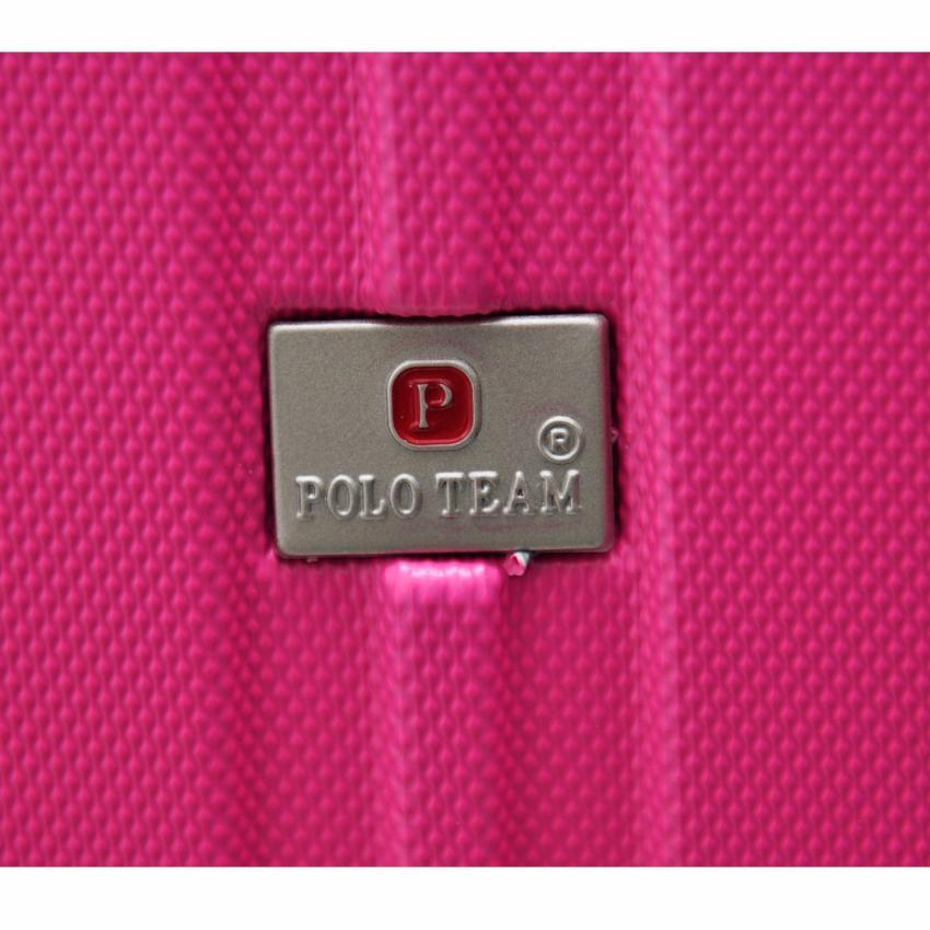 ... Polo Team Tas Koper Hardcase Kabin Size 20 inch 003 Merah Muda