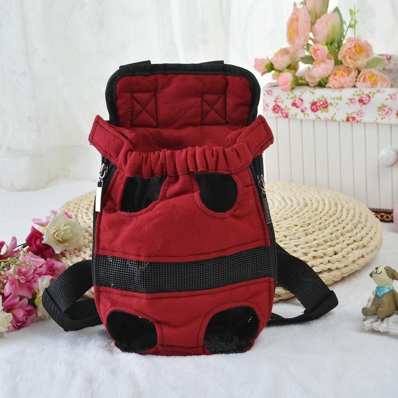 Portable Pet Puppy Double-shoulder Prothorax Bags Dog Travel Carrier Dog Front Backpack Pet Bags Dog Pack Bag Chest Pack Army Green-M