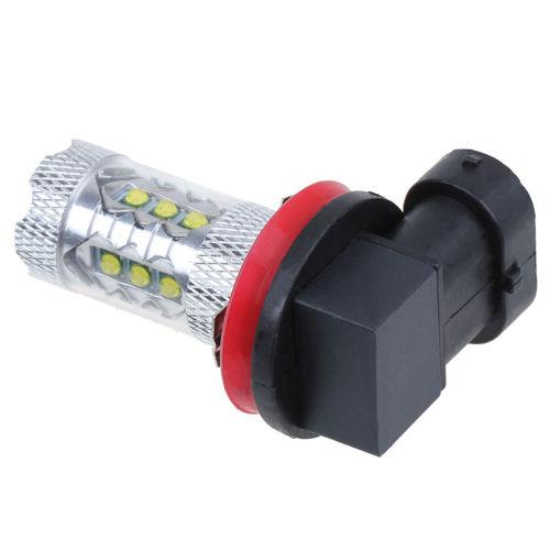... Possbay Biru H11 80 Watt CREE Memimpin DRL Mengemudi Mobil Otomatis Cahaya Lampu Bohlam Lampu Kabut ...
