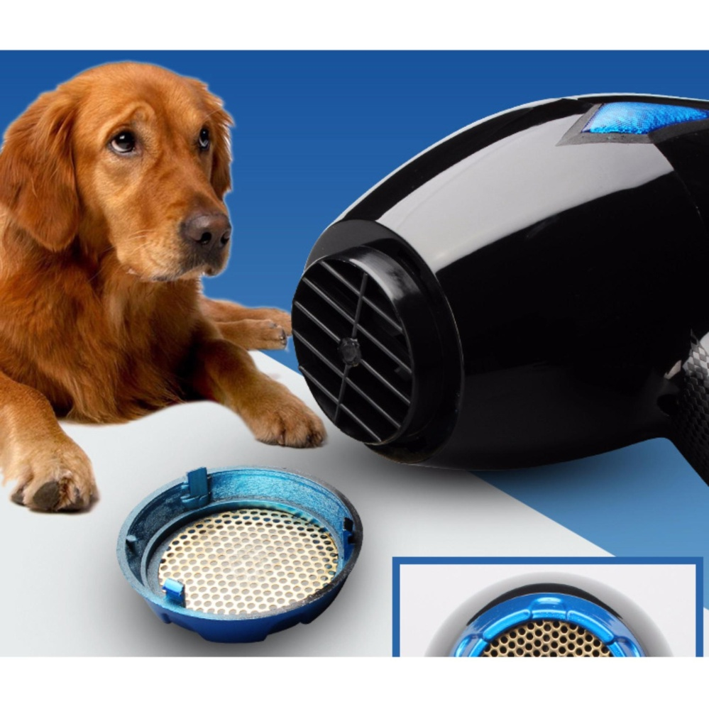 Professional Pet Dog Hair Dryer 2000W Negative Ions Hair Blow Dryer 2 Speed and 3 Heat Setting, Concentrator Nozzle, Diffuser & Straightening Comb AC Motor - intl