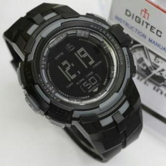 PROMO Digitec DG-3054T Original Anti Air - Jam Tangan Pria Sporty Casual - Black Grey