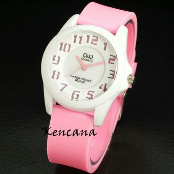Q&Q - Jam Tangan Anak Pria & Wanita / Remaja - Analog Water Resist - Bahan Tali Rubber - Model Simple