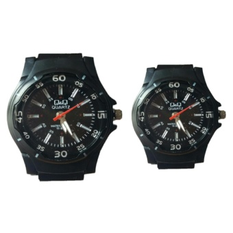 Q&Q JAM TANGAN COUPLE - WATER RESSISSTANCE STRAP RUBBER
