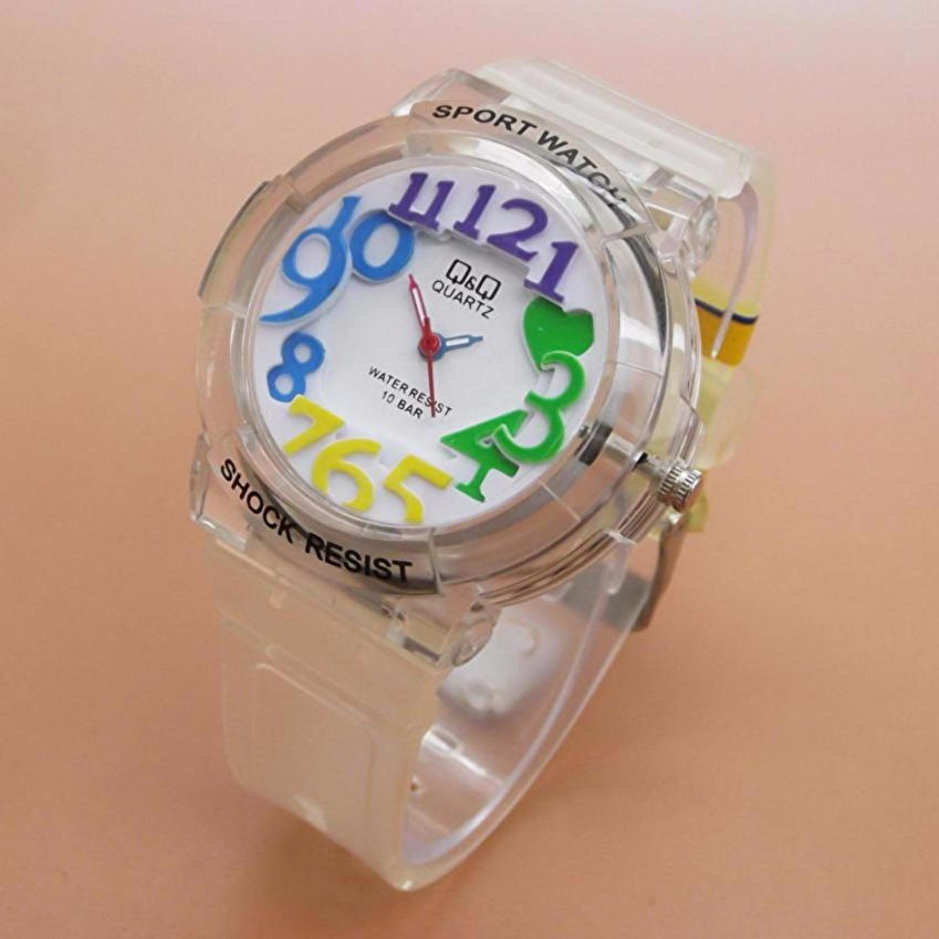 Q&Q Watch QQ018 - Jam Tangan Anak Perempuan - Waterresist - Rubber Strap