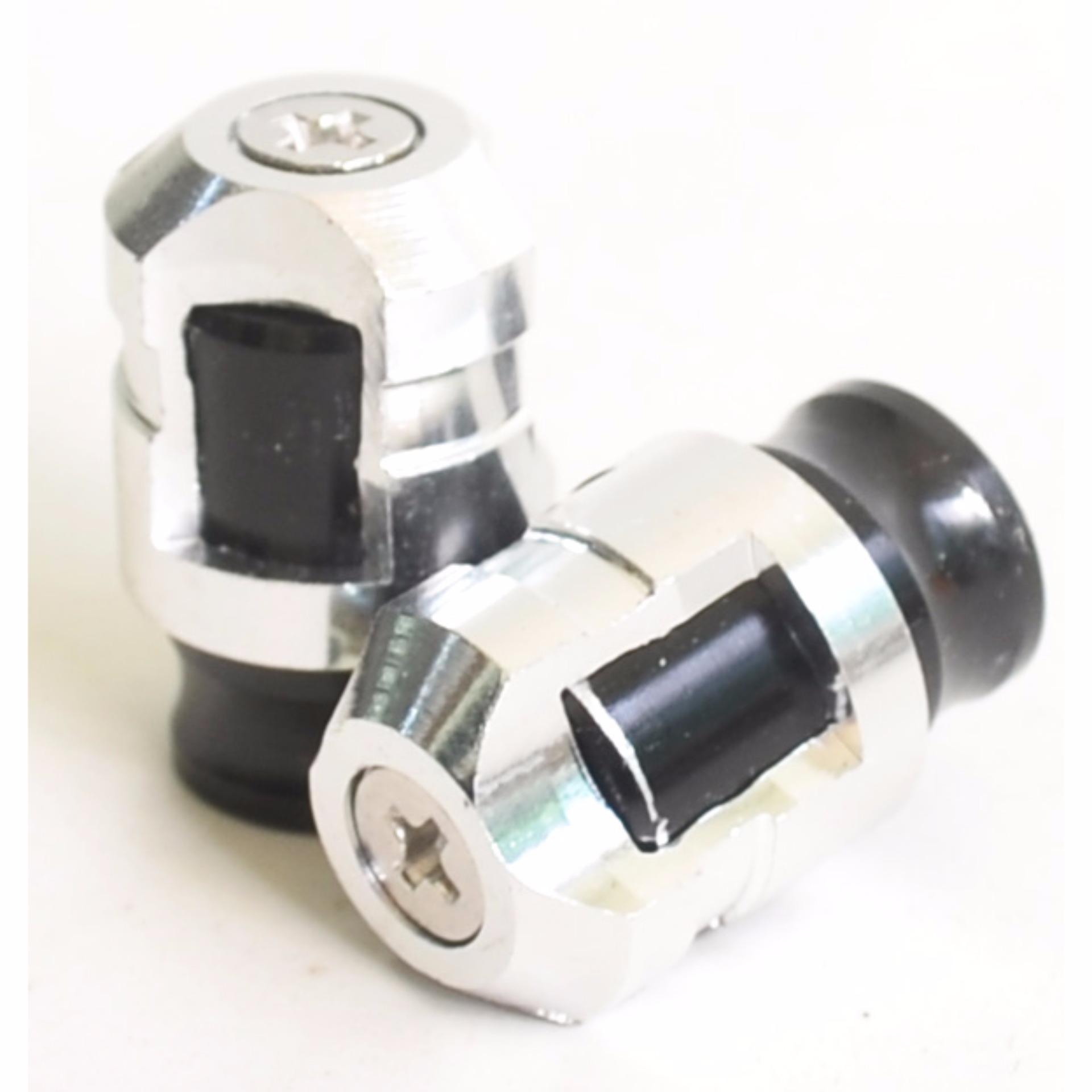 RajaMotor Nitex Tutup Pentil - Silver/Hitam .