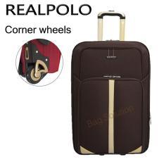 Real Polo Tas Koper Softcase Expandable 2 Roda 540 20 Inchi - Coffee