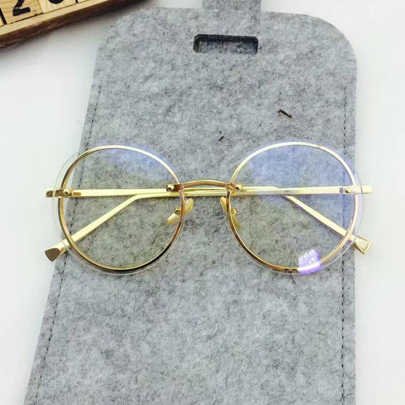 Retro Perempuan bulat kotak sunglasses kacamata hitam