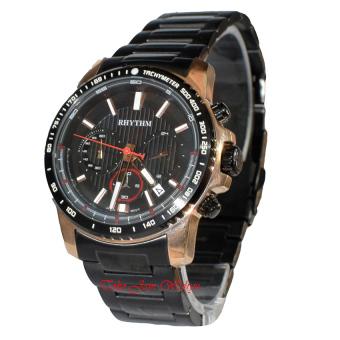 Rhythm Global Timepiece S1401S05 Jam Tangan Pria - Hitam