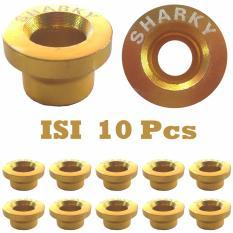Ring Monel SHARKY Isi 10 Pcs Bahan Logam Aluminium - Variasi Motor - Gold