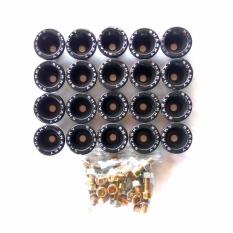 Ring Monel SHARKY Isi 20Pcs Bahan Plastik + Mur Baut - Variasi Motor - Hitam