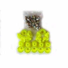Ring Monel SHARKY Isi 20Pcs Bahan Plastik + Mur Baut - Variasi Motor - Kuning Stabilo
