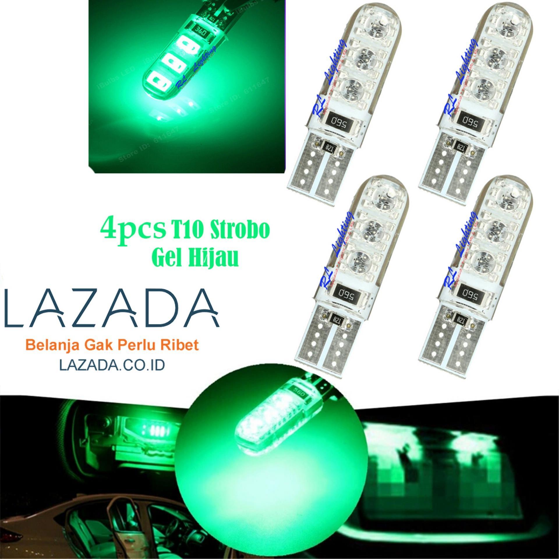 RL Lighting Led T10 Strobo Senja 6Led Gel / Jelly / Silicone Super .