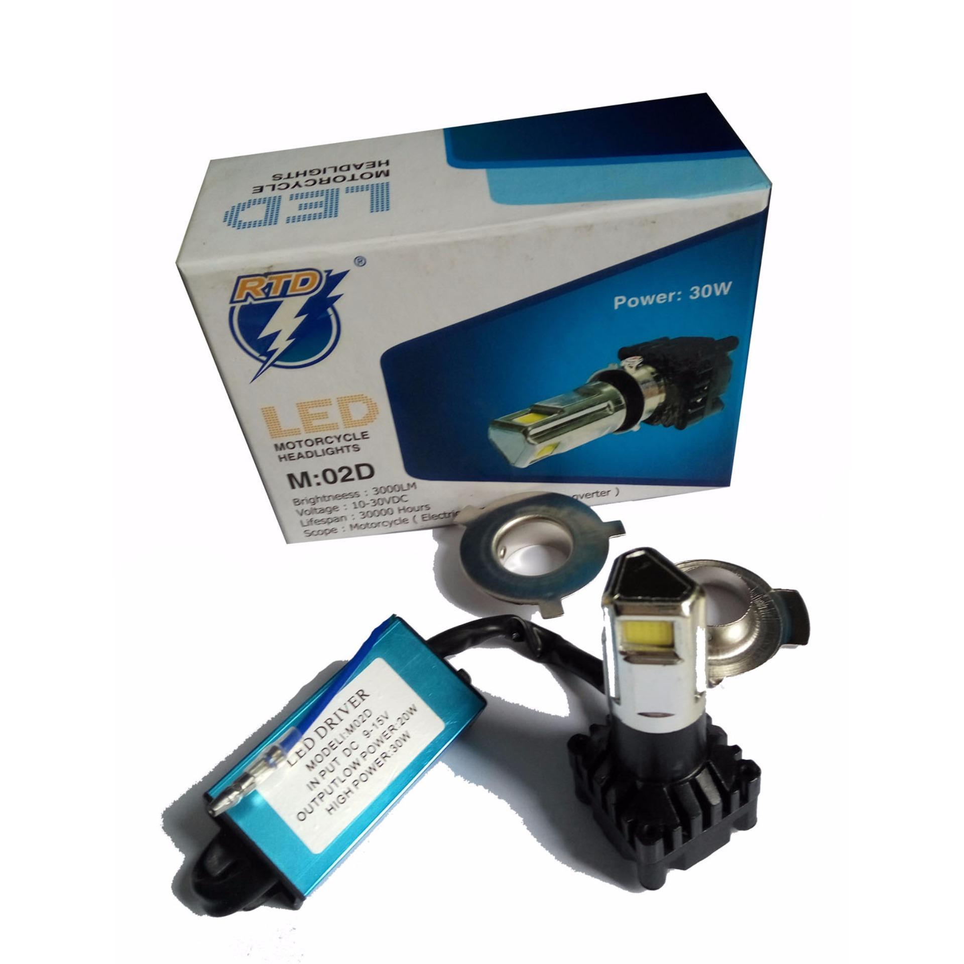 Flash Sale Rtd Lampu Led Motor M02d Dc 3 Sisi 30w H4 Hs1 H6 40 Watt Universal