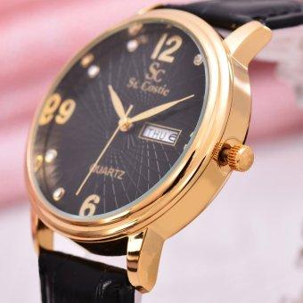 Saint Costie - Jam Tangan Wanita - Body Gold - Black Dial -