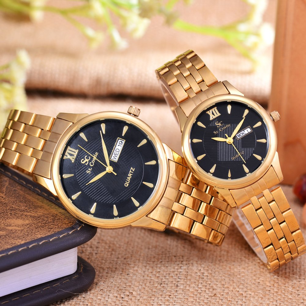 ... Saint Costie Original Brand - Jam Tangan Pria & Wanita - Body Gold - Black Dial ...