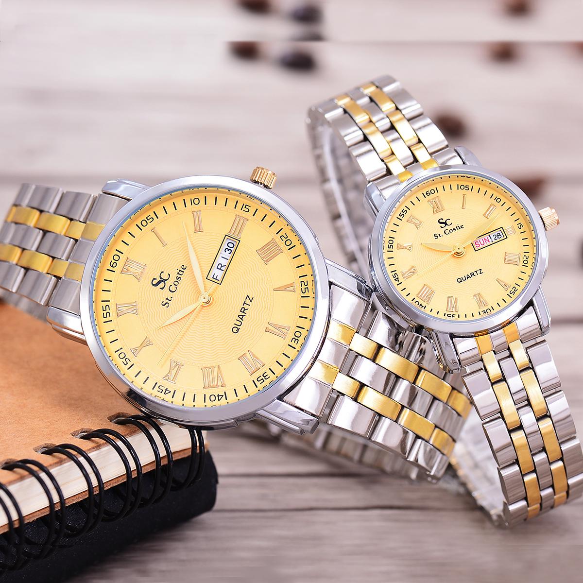 Saint Costie Original Brand, Jam Tangan Pria & Wanita- Body Silver .