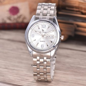 Saint Costie Original Brand-Jam Tangan Pria-Body Silver-white dial-Stainless Stell Band-SC-RT-5236A-G-WW-TH