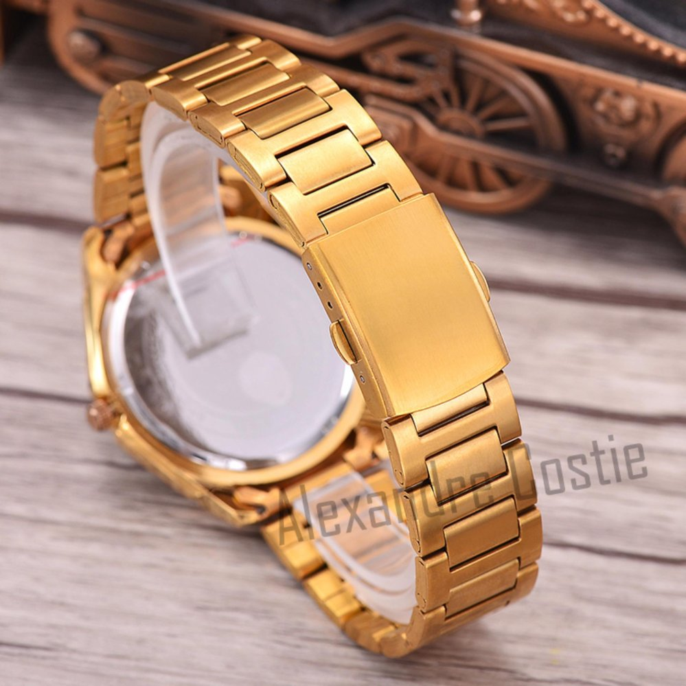 Saint Costie Original Brand, Jam Tangan Wanita - Body Gold - White Dial - Stainless