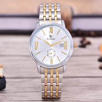 Saint Costie Original Brand, Jam Tangan Wanita - Body Silver/Gold – White Dial